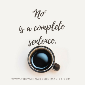 No is a complete sentence