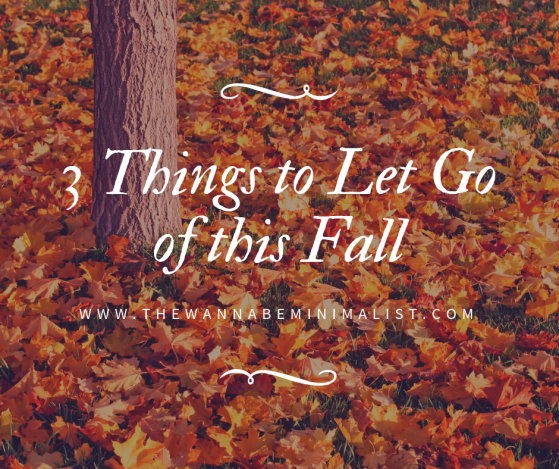 3 things to let go of